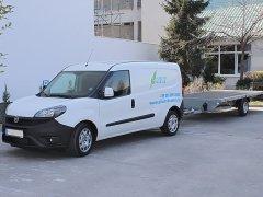 Fiat Doblo 2020 és utánfutó - Tempomat (AP900Ci), Tolatókamera (2db rendszámkeretes)
