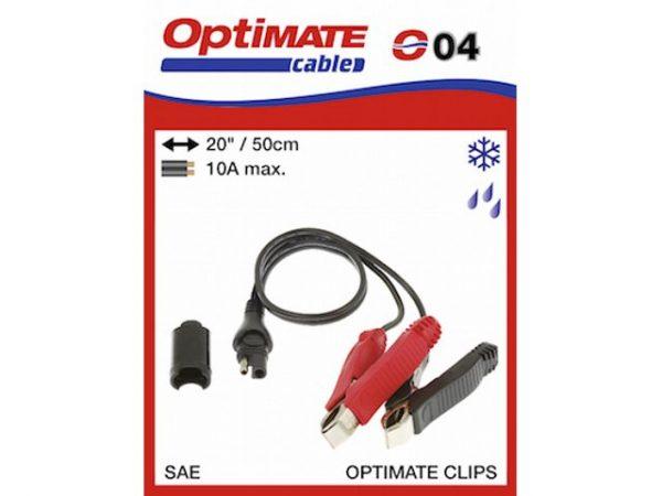 O04 Krokodilcsipeszes töltőkábel akkumulátorhoz (10A; 0,5m) 2