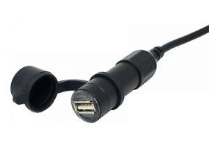 Adapter 1 USB aljzat - 12V (2A, vízvédett, alumínium)