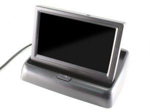 """ET-438 LCD monitor (felnyíló, 4.3"""", 16:9, 1200x680, PAL/NTSC, 2db AV bemenet)"""