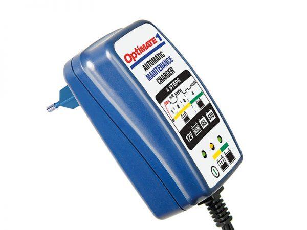 OptiMATE 1 automata akkumulátortöltő (12V, 0.6A, 2-30Ah, 4 töltési fázis)