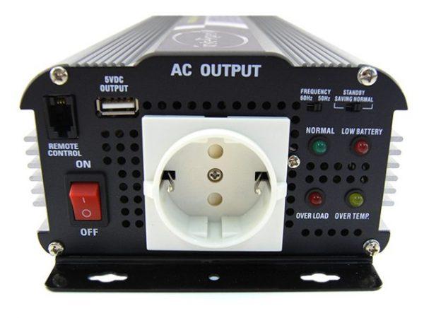 Intelligent SN-700USB-24V inverter (24V, 700W, szinusz, USB) 3