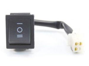 Ülésfűtés kapcsoló (szögletes, 2x2, I-O-II)