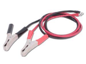 Inverter kábel (M4 szemes saru, 8AWG, krokodil csipesz)