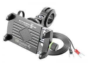 Interphone MOTOCRAB EVO univerzális telefontartó és USB töltő motorkerékpárra